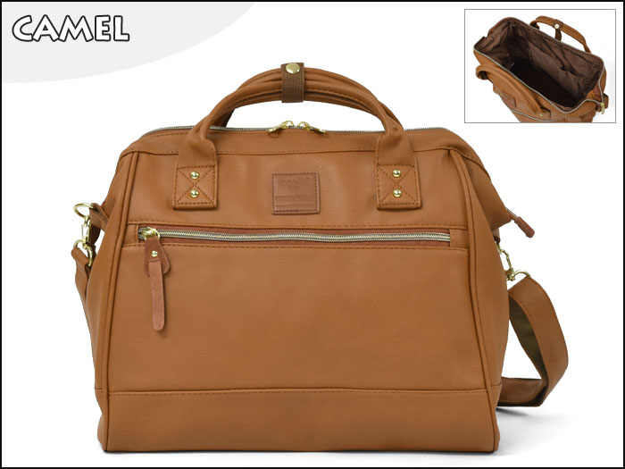 Large twoway Anello leather Shoulder Bag (สีCamel)