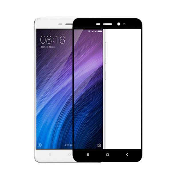 Xiaomi Redmi 4 / Redmi 4 Pro ฟิล์มกระจกนิรภัยเต็มจอ 9H+ บาง 0.33mm (ขอบดำ)