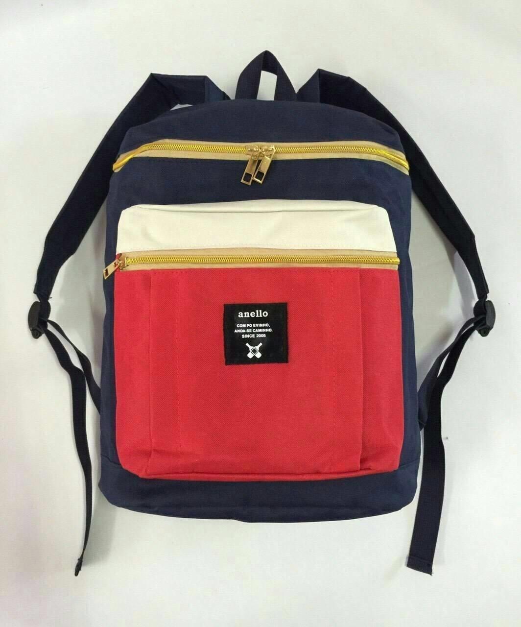 กระเป๋าเป้แฟชั่น สไตล์แบรนด์ สวยเก๋ ผ้าหนาอย่างดี มีช่องใส่ขวดน้ำด้านใน มีซิปหลัง ใส่เอกสารขนาด A4 โน๊ตบุ๊คได้ ขนาดกว้าง 11 นิ้ว สูง 16.5 นิ้ว