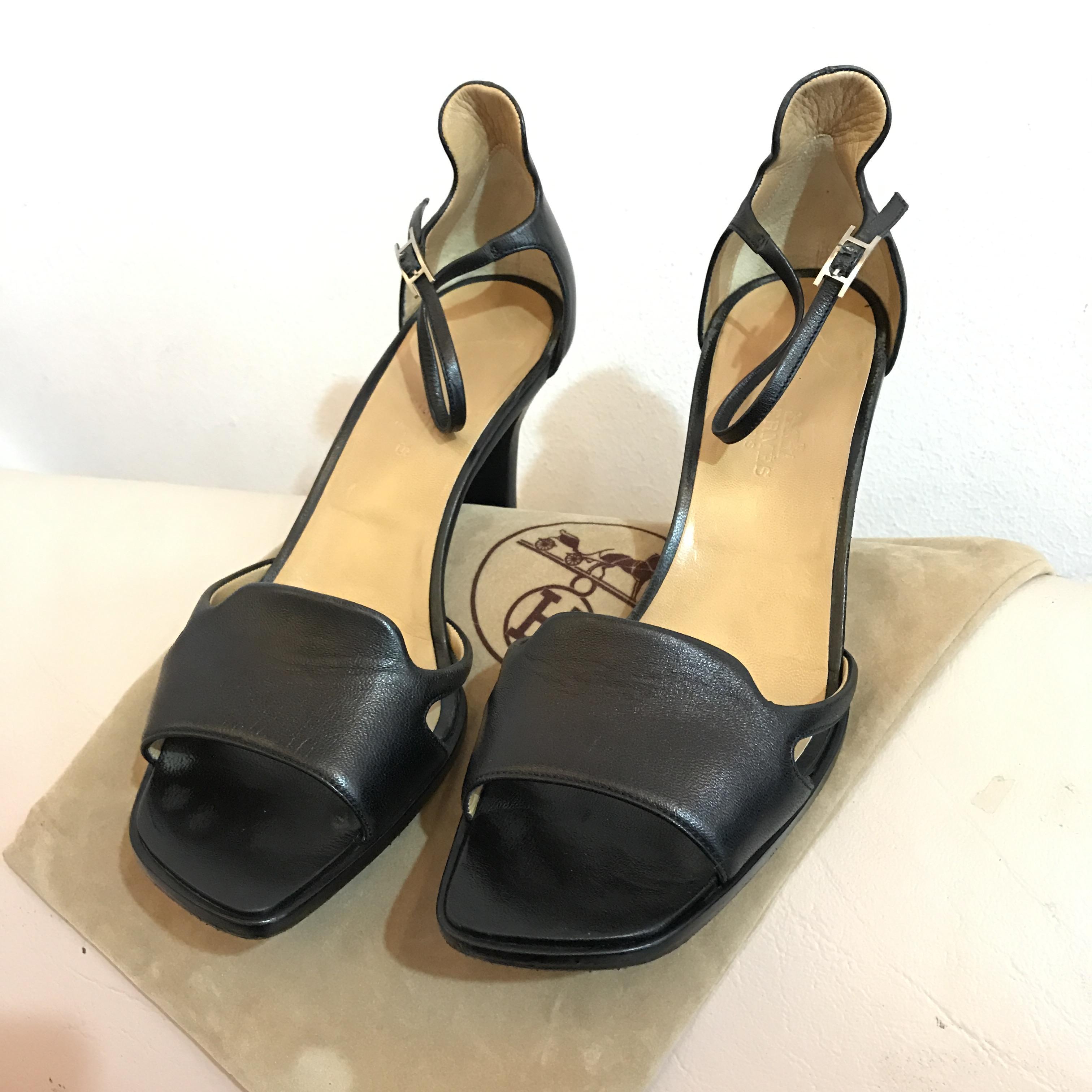 HERMES Black Shoes