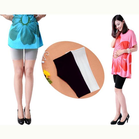 กางเกงเลกกิ้งคนท้องขาสั้นประมาณเข่า ใส่ลำลองหรือกันโป๊ (มี 3 สี ดำ, ขาว, เทา)