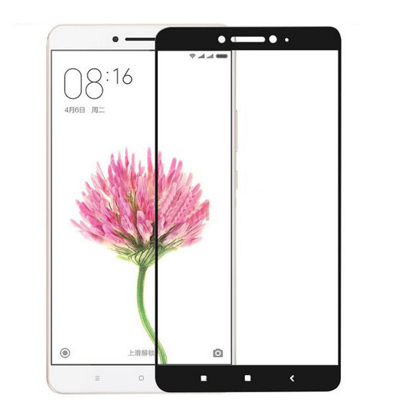 Xiaomi Mi Max 2 ฟิล์มกระจกนิรภัยเต็มจอ 9H+ บาง 0.33mm (ขอบดำ)