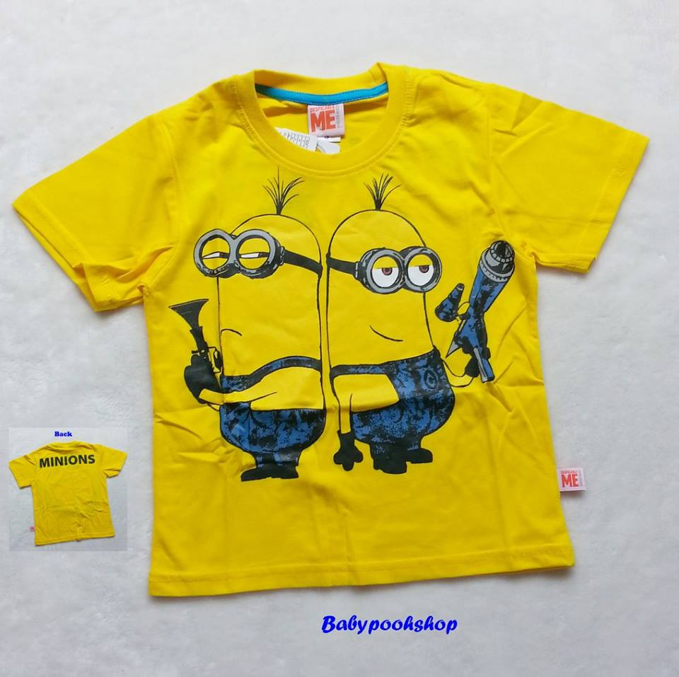 ME : เสื้อยืดสกรีน ลายมินเนียน สีเหลือง ( Kevin ) Size : S / L
