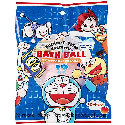 พร้อมส่ง ** Fujiko F Fujio Bath Ball ลูกบอลกลิ่นหอม ใช้โยนลงอ่างอาบน้ำเพื่อให้อ่างอาบน้ำมีกลิ่นอโรม่าหอมๆ เมื่อละลายหมดแล้วจะมีตัวละครของคนวาดโดราเอม่อนออกมา มีทั้งหมด 5 แบบ (สินค้าเป็นแบบสุ่ม) ให้คุณหนูๆ ได้สนุกสนานกับการอาบน้ำ