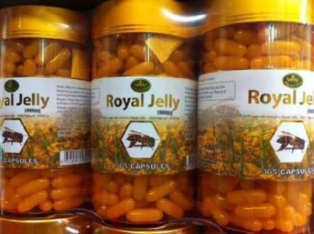 Nature king royal jelly 1000 mg นมผึ้งเนเจอร์คิงส์ บรรจุ 365 เม็ด