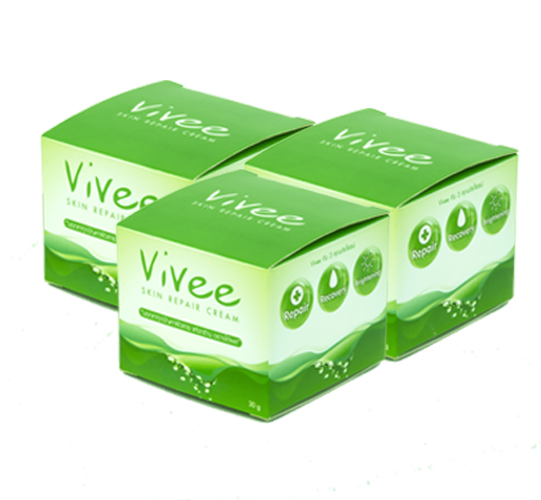 Vivee Skin Repair Cream 3 กระปุก