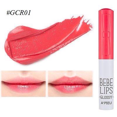 ++พร้อมส่ง++APIEU BEBE Lips 1g #GCR01 ลิปกรอส สีสวยสดใส ติดทนนาน ชุ่มชื้น ใช้ง่าย พกพาสะดวก