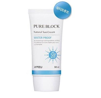 ++พร้อมส่ง++APIEU Pure Block Natural Sun Cream Water Proof SPF50+/PA+++ 50ml