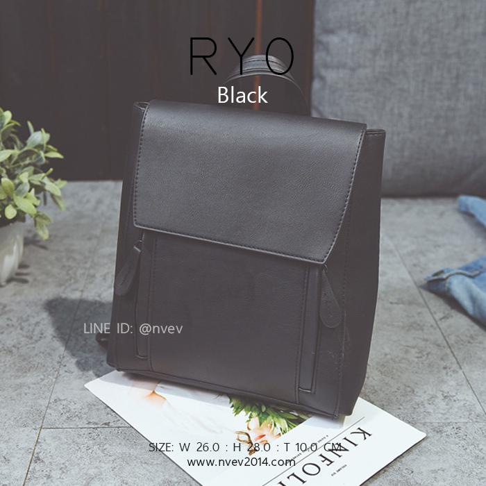 กระเป๋าเป้ผู้หญิง รุ่น RYO สีดำ