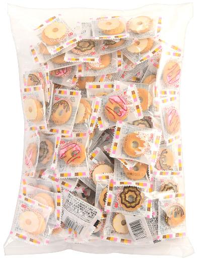 พร้อมส่ง ** Petit Donut Biscuit บิสกิตจิ๋วรูปโดนัท 1 ห่อใหญ่ (100 ชิ้น)