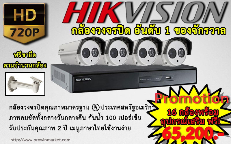 Promotion HIKVISION Set 16CH (IP CAMERA)