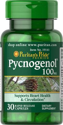ลดฝ้า บำรุงผิว Puritan's Pride Pycnogenol 100 mg ขนาด 30 Capsules