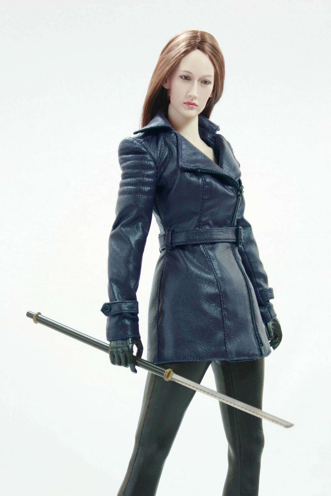 POPTOYS F15-C BLUE (The Nikita female agent leather suit