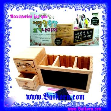 กล่องเก็บของไม้แบบมีลิ้นชัก และ กระดาษดำ ( ) เป็นกล่องไม้แบบน่ารัก สไตล์เกาหลี ไว้ให้ท่านได้เก็บของให้เป็นเรียบร้อย