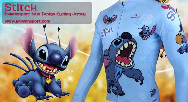 **พรีออเดอร์** เสื้อแขนยาวปั่นจักรยาน ลายการ์ตูน เสื้อจักรยาน sticth สีฟ้า สดใส ลายสวย