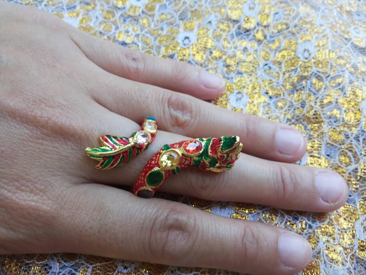 แหวนพญานาค พลอย7เม็ด