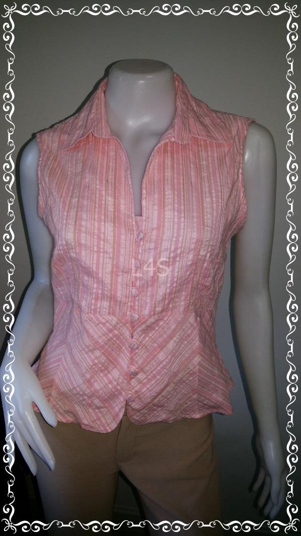 BN4029--WE เสื้อแฟชั่น แขนกุด สีส้ม H&M อก 36 ยืด 38 นิ้ว