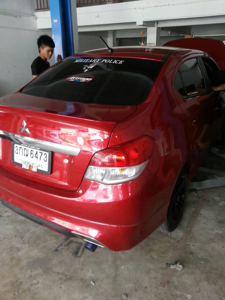 Mitsubishi Attrage ท่อJs ใบสั้น