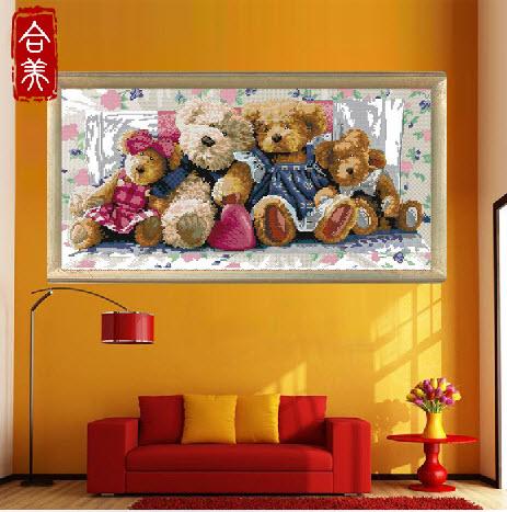ครอบครัวตุ๊กตาหมี 1 (ใหญ่)