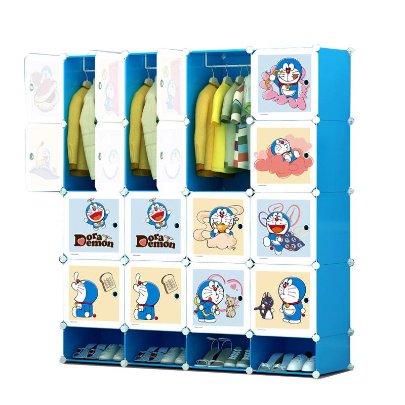 ตู้เก็บของ ตู้เสื้อผ้าเด็ก DIY ลาย Doraemon โดเรม่อน