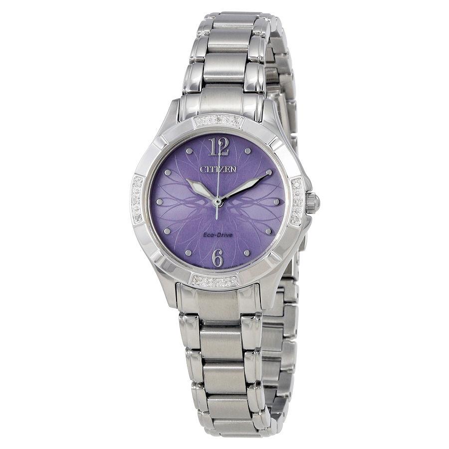 นาฬิกาผู้หญิง Citizen Eco-Drive รุ่น EM0450-53X, SILHOUETTE DIAMOND