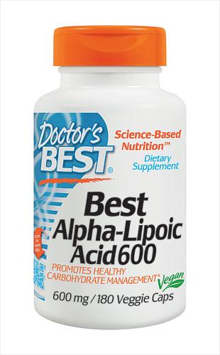 Doctor's Best Best Alpha-Lipoic Acid 600 mg 180 Veggie Caps