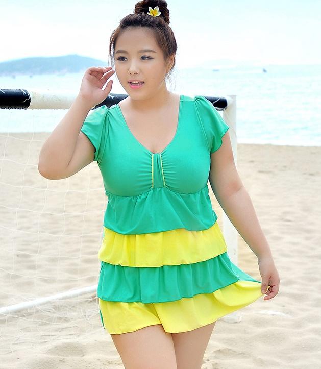 ชุดว่ายน้ำคนอ้วนพร้อมส่ง : ชุดว่ายน้ำแฟชั่นสีเขียวแต่งผ้าเป็นชั้นๆแบบเก๋ มีกางเกงขาสั้นใส่ด้านใน น่ารักมากๆจ้า: มี Size 5XL,6XL รายละเอียดไซส์คลิกเลยจ้า