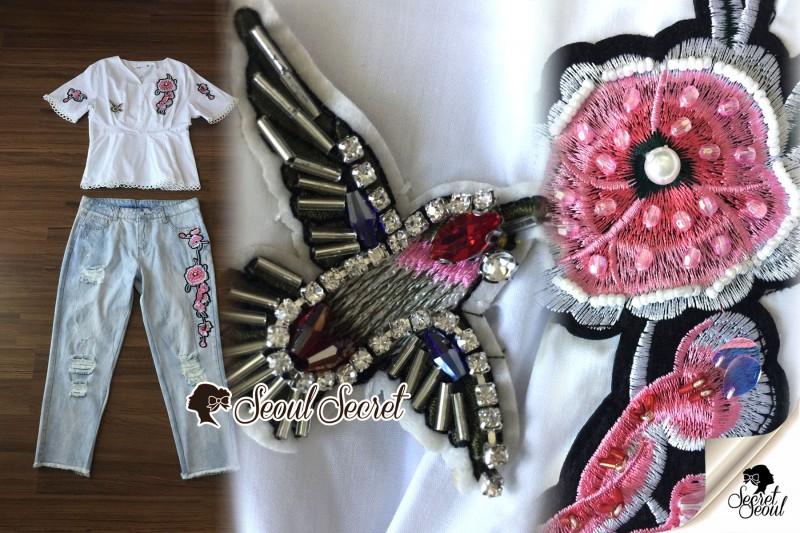 เสื้อผ้าแฟชั่นเกาหลี Seoul Secret Say's... Chic Ivy Rosy Stick Set