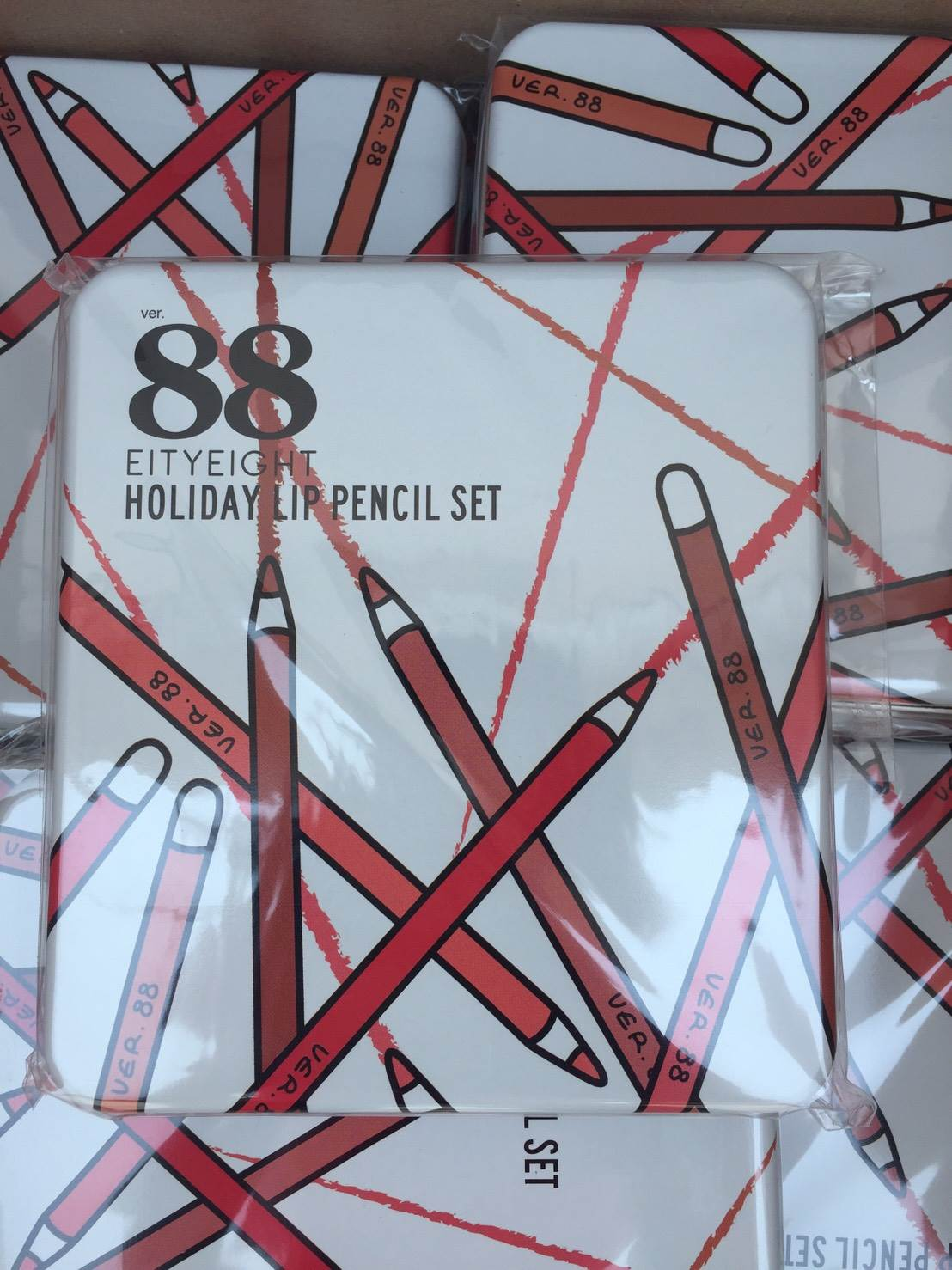 Ver88 Holiday Lip Pencil Set Happy Angel Shop Eighty Eight
