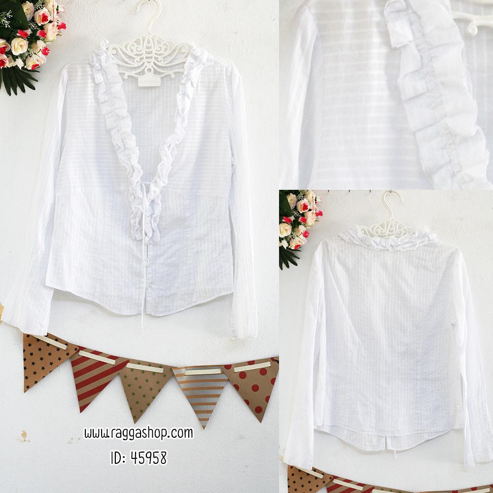 45958 อก40 เสื้อคลุมสีขาว