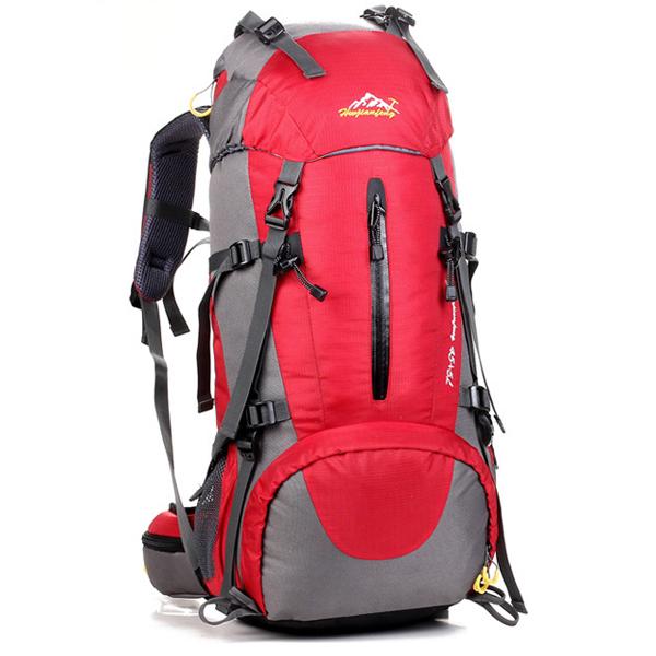 DF06 กระเป๋าเดินทาง สีแดง ขนาดจุสัมภาระ 45+5 ลิตร