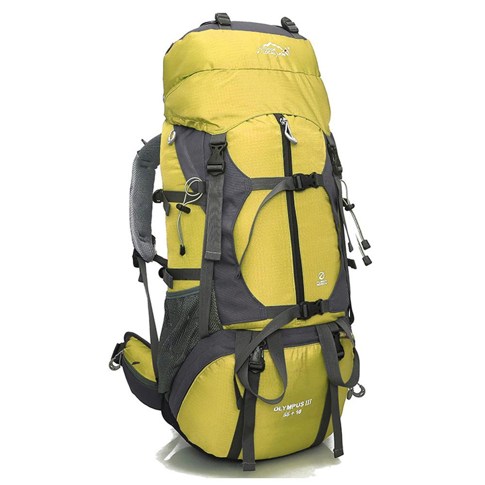 DF05 กระเป๋าเดินทางเสริมโครง สีเหลือง ขนาดจุสัมภาระ 55+10 ลิตร
