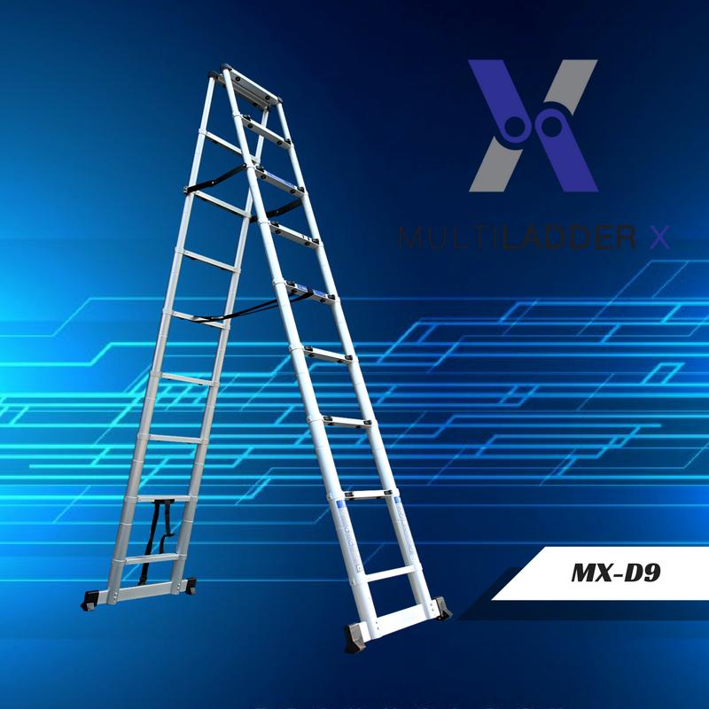 บันไดอลูมิเนียม ยืดหดได้ MX-D9 ทรงพาด ยาว 2.6 เมตร, ทรง A 2.6 เมตร