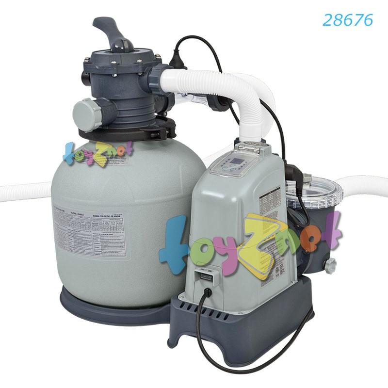 Intex เครื่องกรองน้ำระบบน้ำเกลือ-ทราย (อี.ซี.โอ.) 6,000 ลิตร/ชม. รุ่น 28676