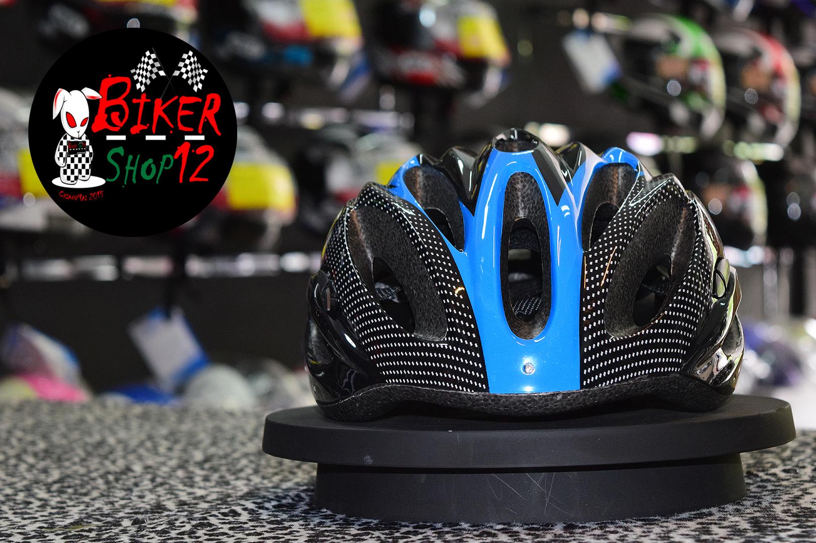 หมวกกันน็อค จักรยาน สีน้ำเงิน-ดำ