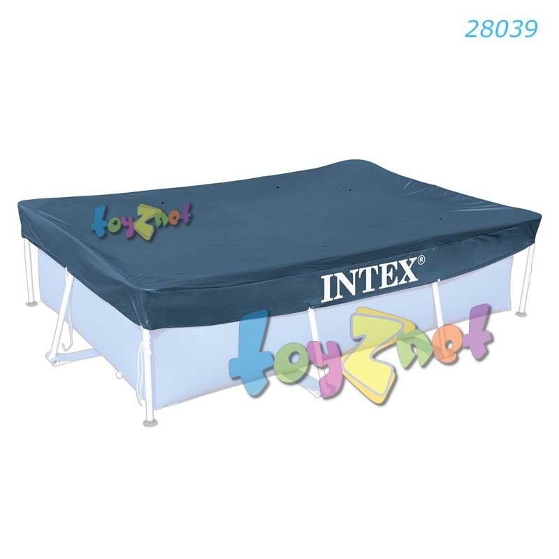Intex ผ้าคลุมสระเฟรมพูลสี่เหลี่ยม 4.5x2.2 ม. รุ่น 28039