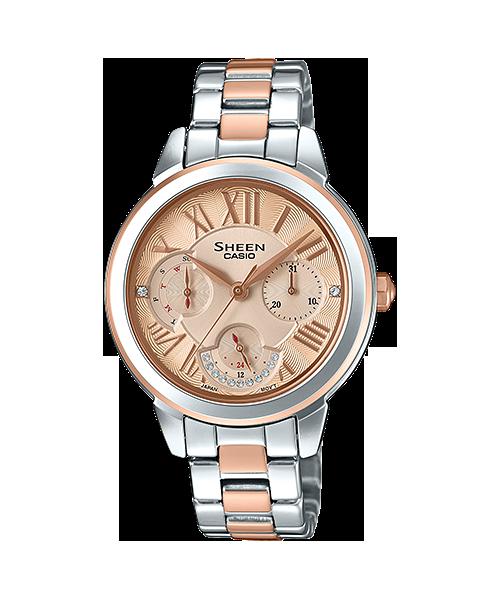 นาฬิกา คาสิโอ Casio SHEEN MULTI-HAND SHE-3059 series รุ่น SHE-3059SPG-9A ของแท้ รับประกัน1ปี