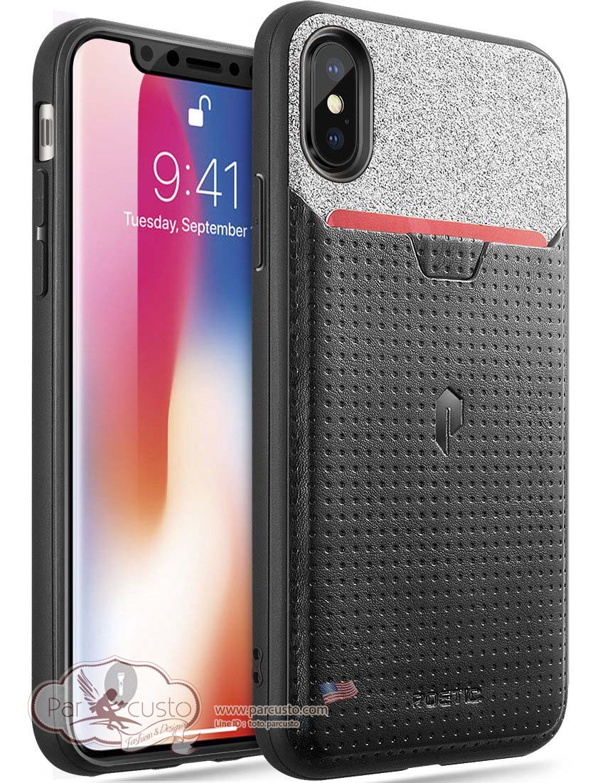 เคส Apple iPhone X [Credit Card Slot] [Pull-Tab] จาก Poetic [Pre-order USA]