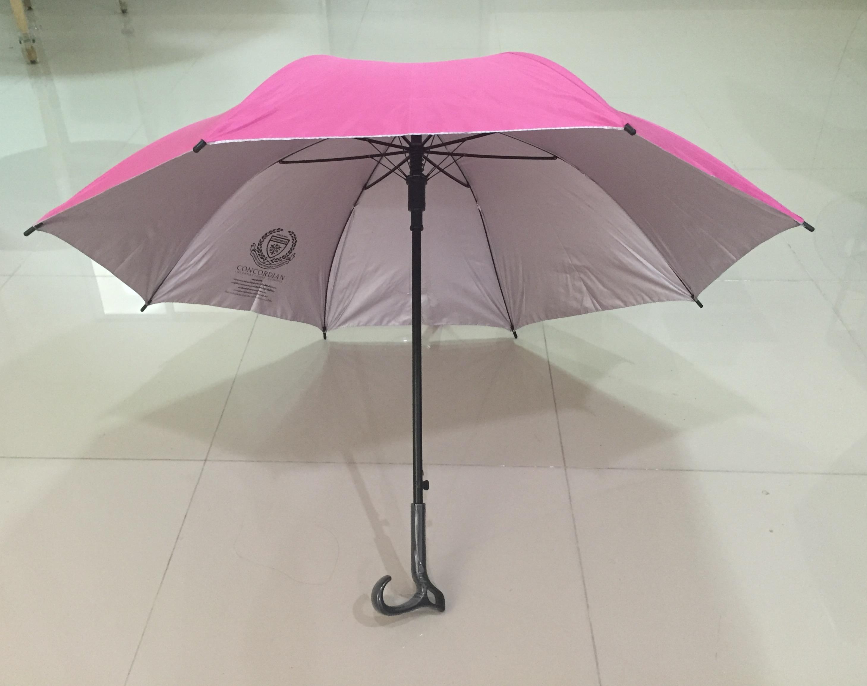 ร่มไม้เท้า 24 นิ้ว สกรีนโลโก้ด้านในตัวร่ม คละสี สกรีนโลโก้ด้านในตัวร่ม