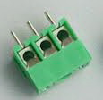 Screw terminal block 3 pin pitch 3.5 mm