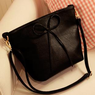 Axixi-กระเป๋าสะพายยาวติดโบว์น่ารัก