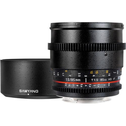 Samyang 85mm T1.5 Cine Lens for Canon EF เลนส์ถ่ายภาพยนตร์,หนัง