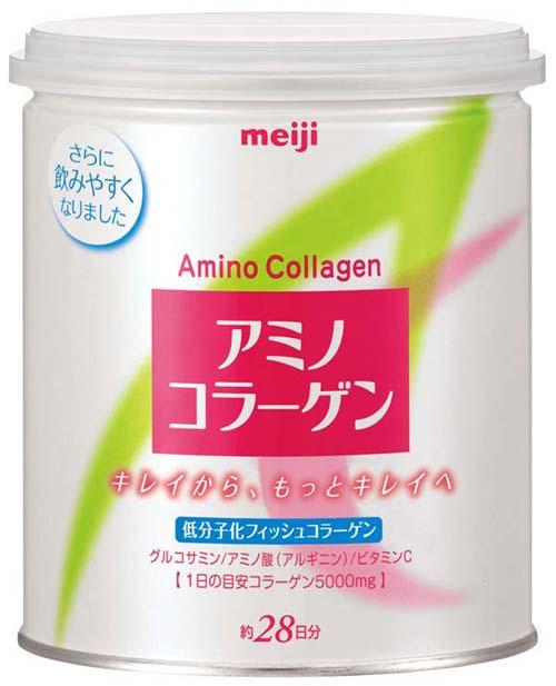 Meiji Amino Collagen เมจิ อะมิโน คอลลาเจน (กระปุก) ปริมาณ 200 กรัม