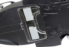 View the batteries which power HY-KERS, via the clear underpanel parts. (Image shows unpainted prototype)