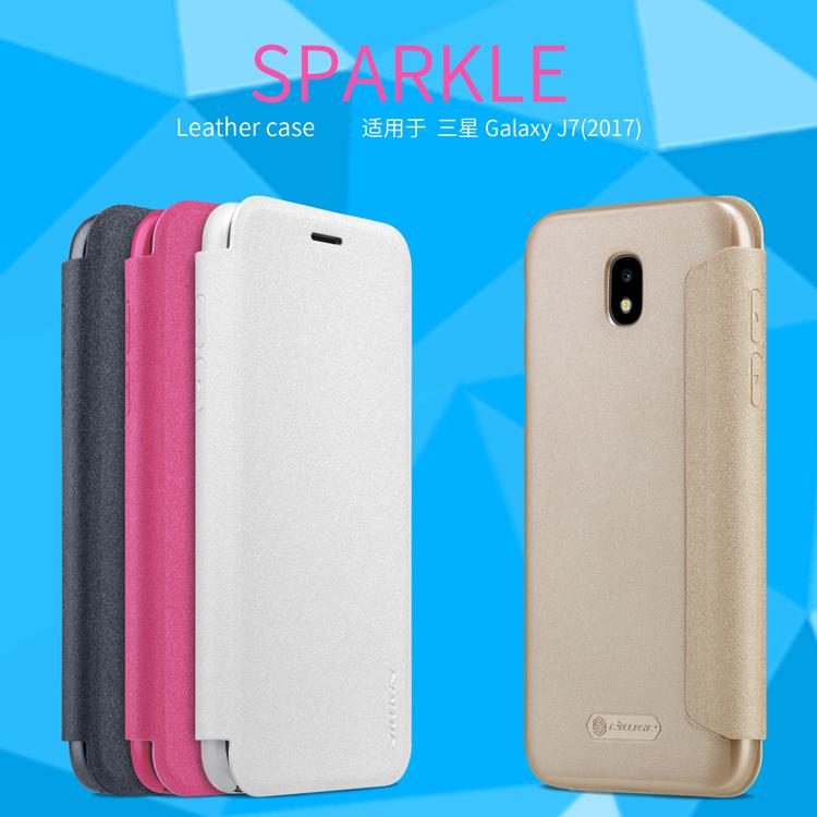 เคสฝาพับ NILLKIN Sparkle Leather Case Galaxy J7 PRO (2017) / J730