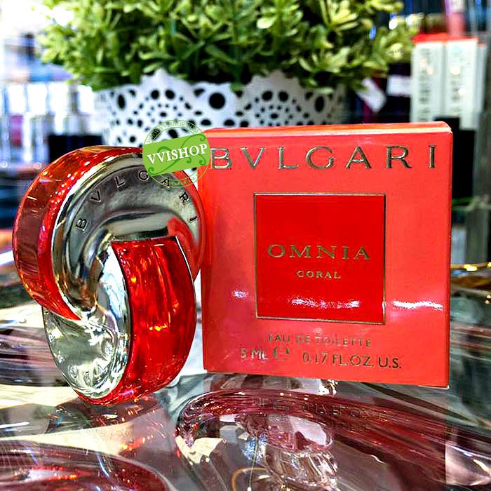 BVLGARI OMNIA Coral EDT 5 ml. น้ำหอมฟรุตตี้ สำหรับหญิงสาวเอ็กโซติก ที่สดใส ร่าเริง สนุกสนาน
