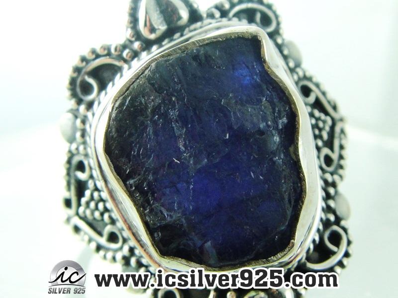 ▽แทนซาไนท์ Tanzanite -แหวนเงินแท้ 925 (แหวนเบอร์ : 57) 5.9g