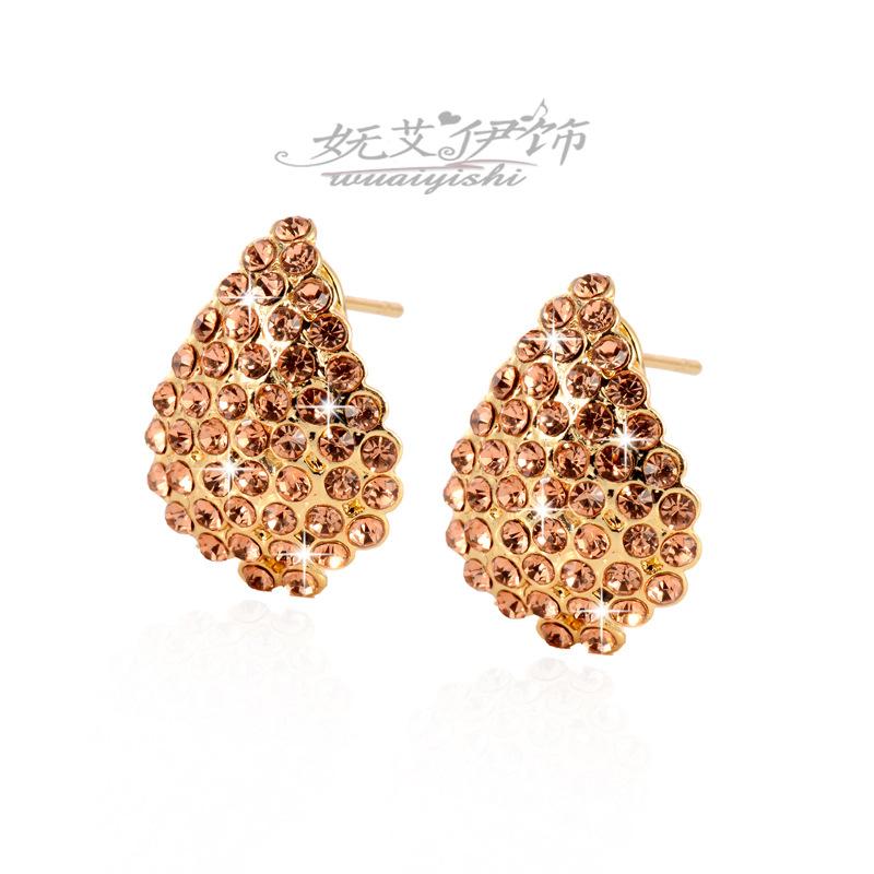 AO1933 - ต่างหูเพชร ตุ้มหูเพชร ตุ้มหู ต่างหู ต่างหูระย้า เครื่องประดับ New fashion jewelry earrings