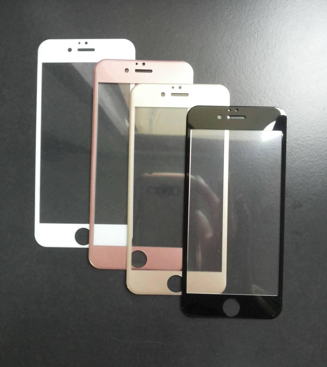 ฟิล์มกระจกนิรภัยเต็มจอขอบโค้งลงมุม iphone6/6s