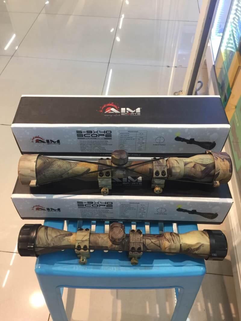 New.AIM 3-9x40 SCOPE ลายพราง มาพร้อมขาจับสโครป ราคาพิเศษ